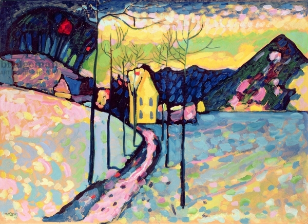 Winter Landscape, 1909 by Wassily Kandinsky (1866-1944) / Hermitage, St. Petersburg, Russia / Bridgeman Images