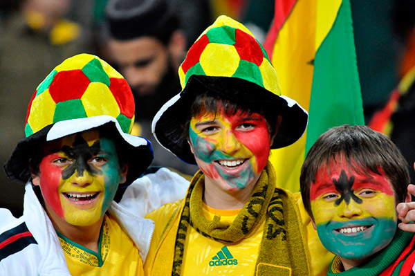 Soccer fans during the 2010 World Cup © Jean-Pierre Kepseu/Africa Media Online