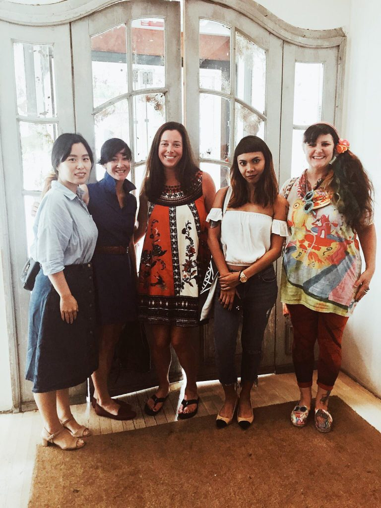 Here we are attending our annual NYC illustrators lunch. It was a great time! From left to right: Jongmee, Jennifer Maravillas, Stacey Endress, Soleil Ignacio and Sarah Beetson.
