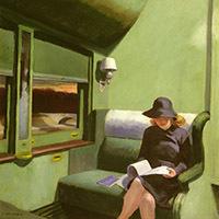 © Compartment C, Car 293, 1938 (oil on canvas), Edward Hopper (1882-1967) / Private Collection / Bridgeman Images